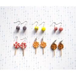 Boucles d'oreilles gourmandes