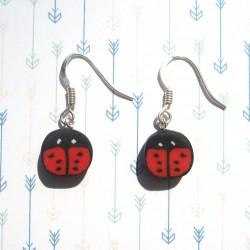 Boucles d'oreilles Ladybug