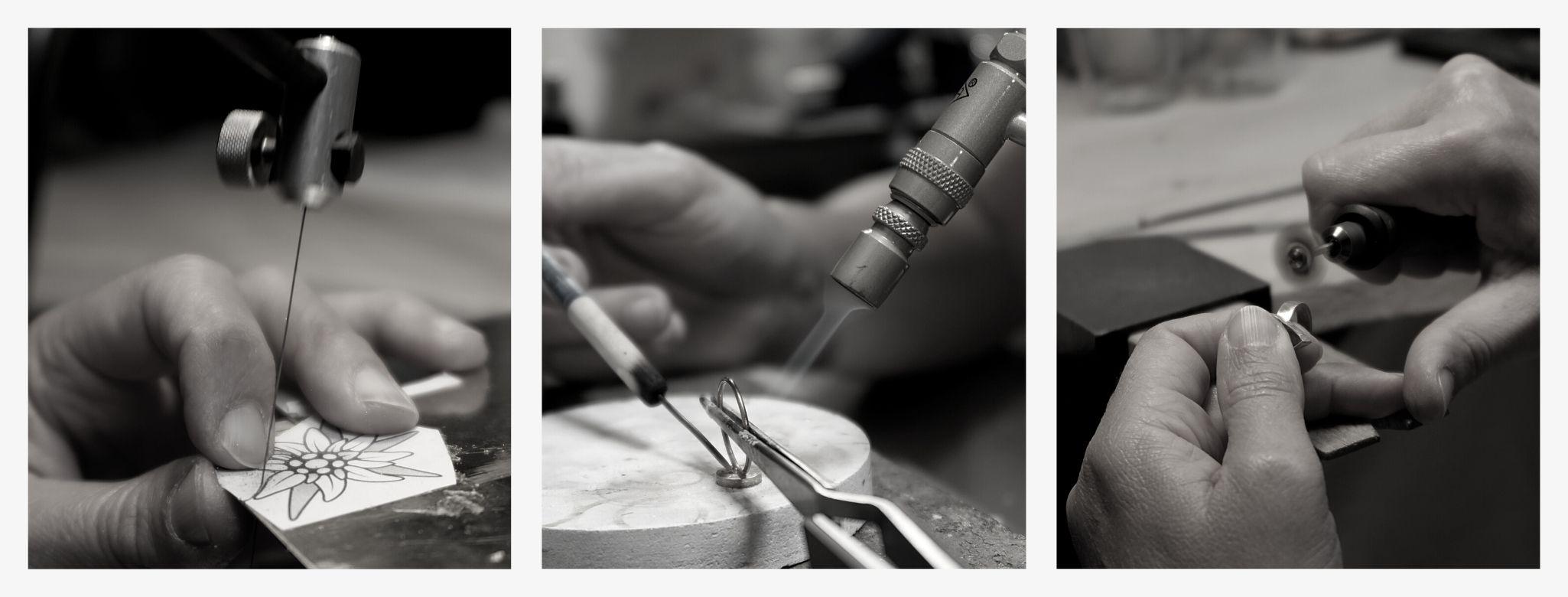 Bijoux faits main à l'atelier